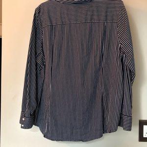 Lane Bryant Tops - Navy/white pinstripe Lane Bryant button down shirt